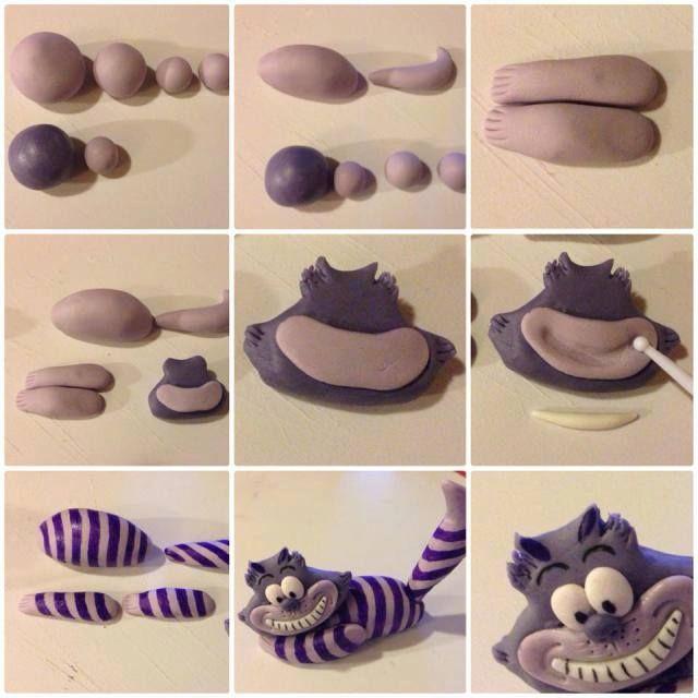 secrets de p te polym re tutoriel le chat de chester de alice au pays des merveilles en fimo. Black Bedroom Furniture Sets. Home Design Ideas