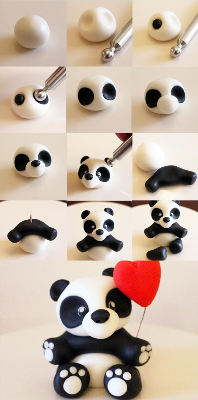 tutoriel fimo panda. Black Bedroom Furniture Sets. Home Design Ideas